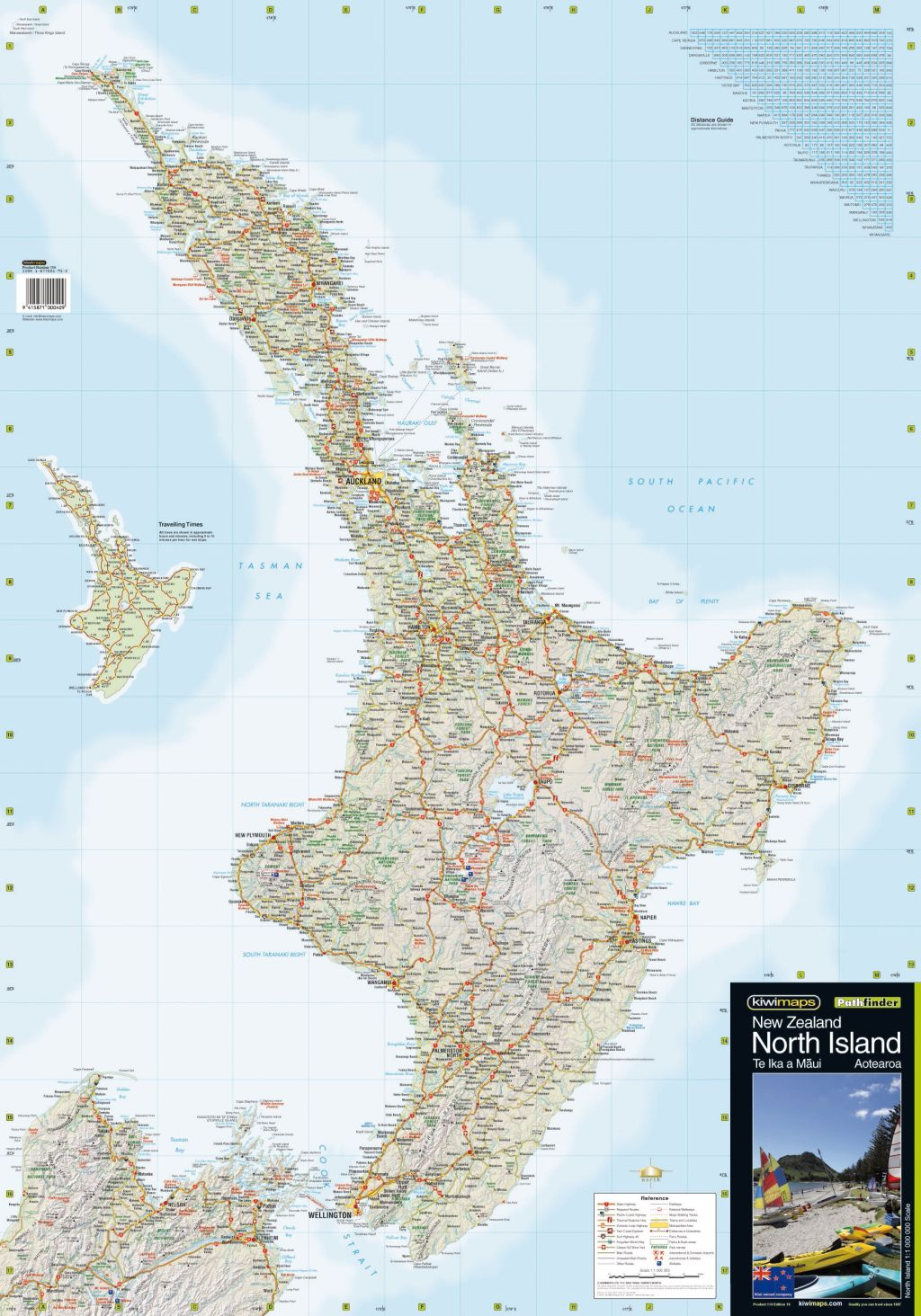 Map Of North Island New Zealand Towns.North Island Kiwi Map