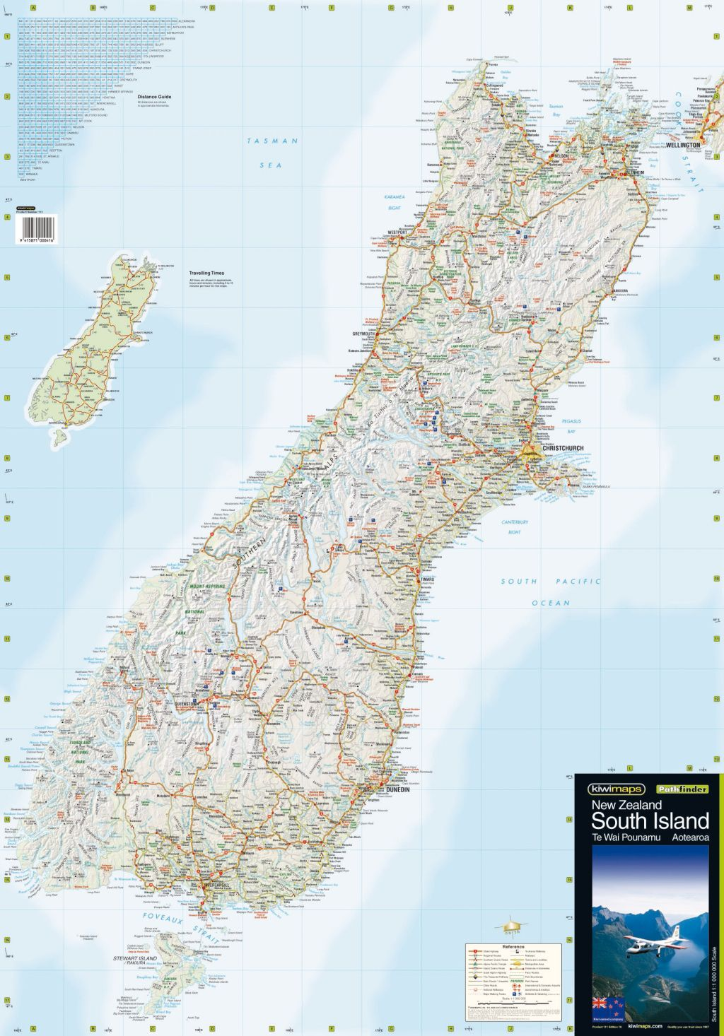 South Island Map Of New Zealand.South Island Kiwi Map