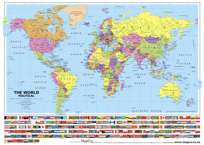 New Zealand Map In World Map.World Political Map