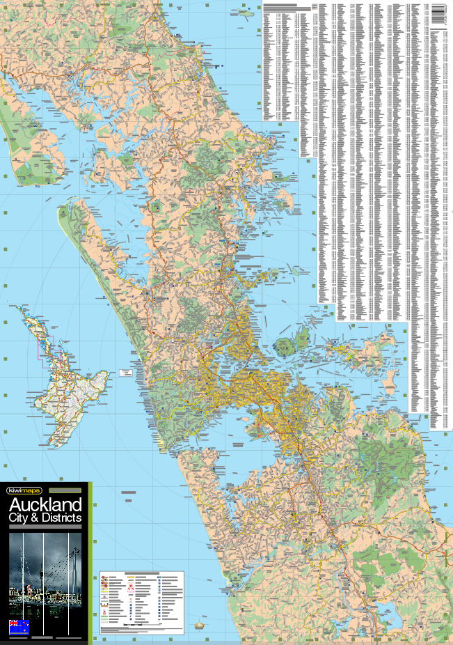 Map Of Auckland New Zealand.Auckland City District Map