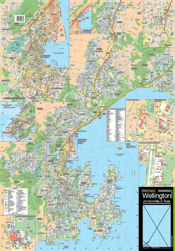 Map Of Wellington New Zealand.Wellington Johnsonville Tawa Road Map