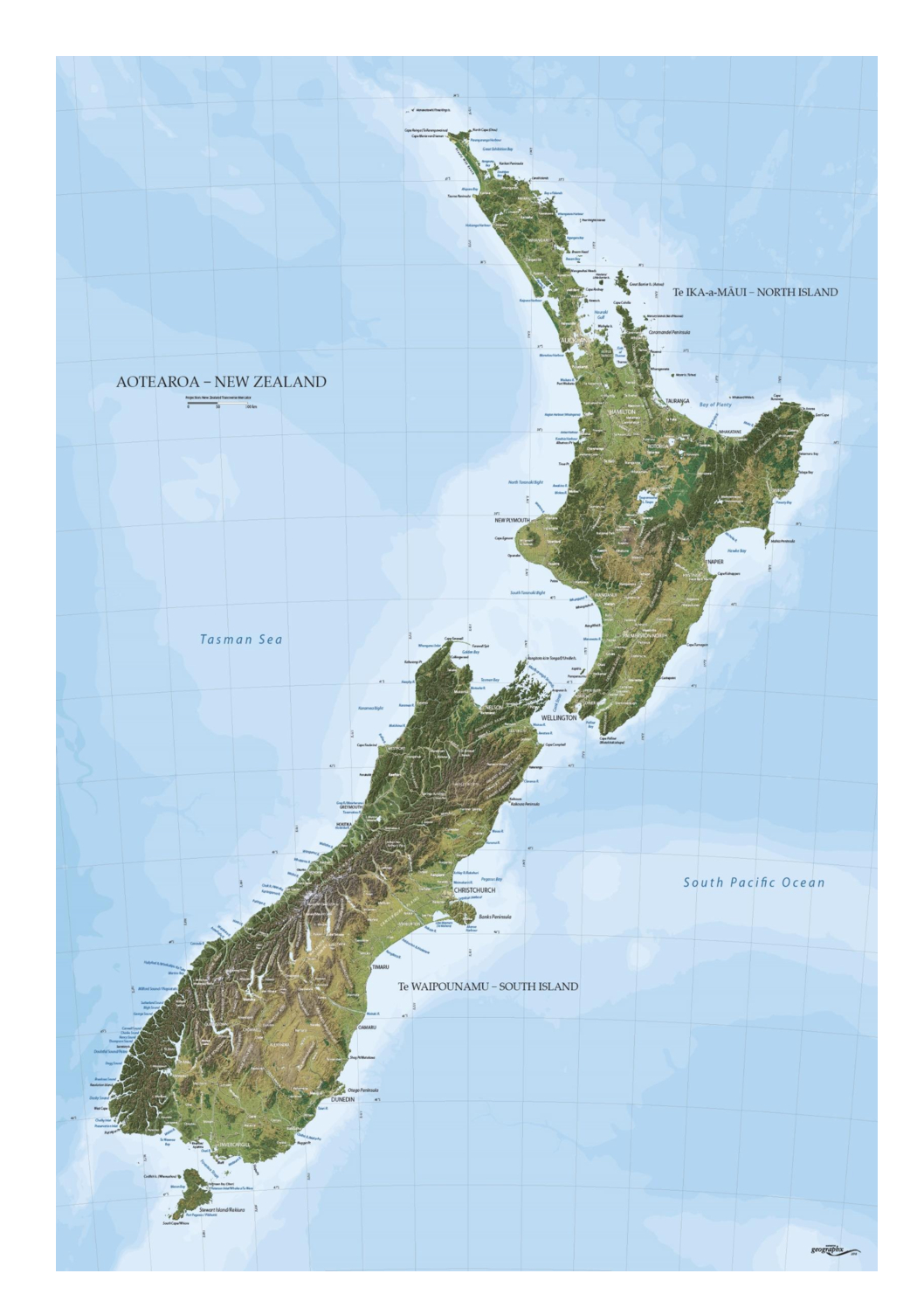 New Zealand Geographx Map Mapco Nz Ltd Maori Pacific Island And